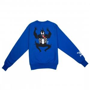 BAIT x Spiderman x Champion Men Spiderman Villains Crewneck Sweater (blue / surf the web)