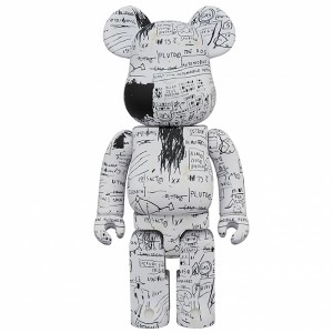 PREORDER - Medicom Jean-Michel Basquiat #3 1000% Bearbrick Figure Set (white)
