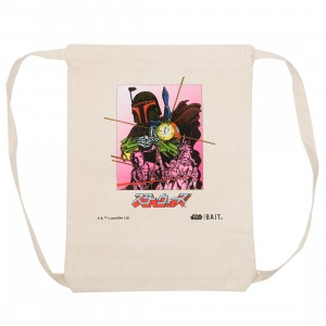 BAIT x Star Wars Manga Boba Fett Drawstring Canvas Bag (brown / canvas)