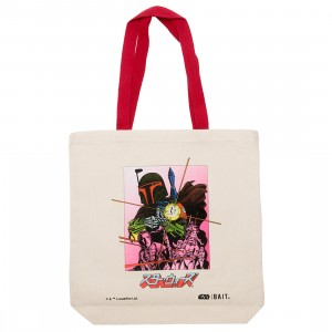 BAIT x Star Wars Manga Boba Fett Canvas Tote Bag (brown / canvas)