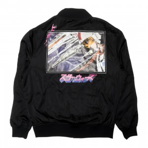 BAIT x Star Wars Manga Men Rebellion Starfighter Satin Jacket (black)