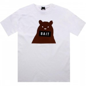 BAIT Bear Tee (white / brown)