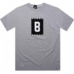 BAIT B Logo Tee (heather grey / white)