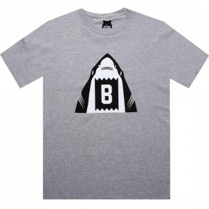 BAIT Shark Tee (heather grey / black)
