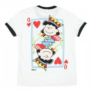 BAIT x Snoopy Women Queen Of Hearts Cropped Tee (white / black)