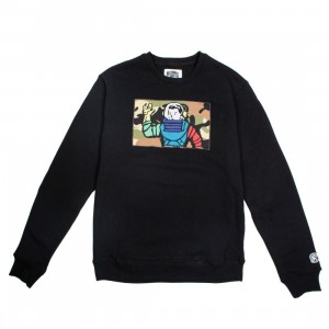 Billionaire Boys Club Men Astro Camo Crew Sweater (black)