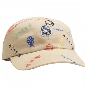 Billionaire Boys Club Chalkboard Dad Cap (brown / croissant)