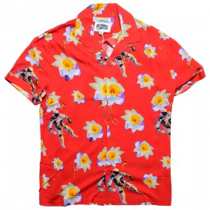 Billionaire Boys Club Men Dream Space Woven Shirt (red)