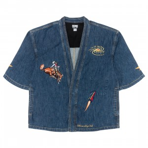 Billionaire Boys Club Men Space Rider Kimono Shirt (blue / denim)