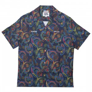 Billionaire Boys Club Men Rudy Woven Short Sleeve (multi / peacoat)