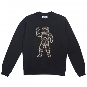 Billionaire Boys Club Men Camo Astronaut Crew Sweater (black)