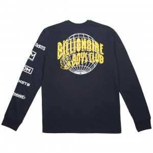 Billionaire Boys Club Men World Tour Long Sleeve Tee (navy)