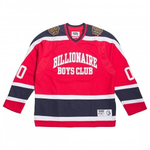 Billionaire Boys Club Men Don't Give A Puck Long Sleeve Knit (red)