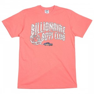 Billionaire Boys Club Men Nitro Arch Tee (pink / sugar coral)