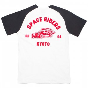 Billionaire Boys Club Men Riders Raglan Tee (white)