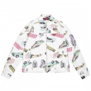 Billionaire Boys Club Men Gear Head Jacket (white)