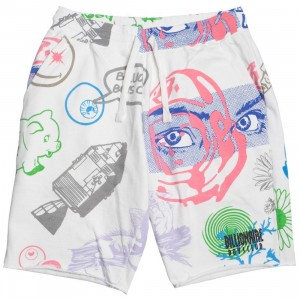 Billionaire Boys Club Men Cortex Shorts (white)