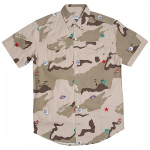 Billionaire Boys Club Men All Seeing Woven Shirt (camo / smoke)