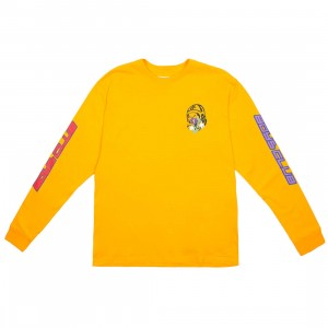 Billionaire Boys Club Men Island Long Sleeve Tee (yellow)