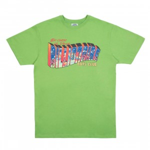 Billionaire Boys Club Men Greetings Tee (green)