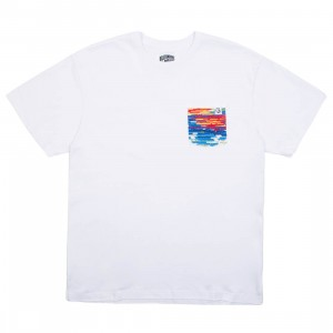 Billionaire Boys Club Men Pocket Knit Tee (white)