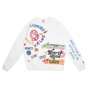 Billionaire Boys Club Men Future Crew Sweater (white)