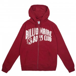 Billionaire Boys Club Men Warmth Zip Hoody (red)