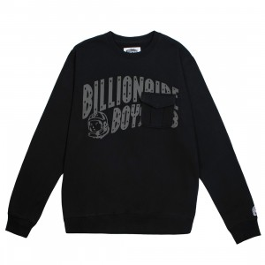Billionaire Boys Club Men BB Crew Sweater (black)