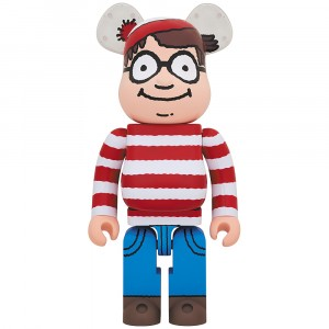 PREORDER - Medicom Where's Wally? Wally 1000% Bearbrick Figure (red)