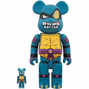 Medicom TMNT Slash 100% 400% Bearbrick Figure Set (blue)