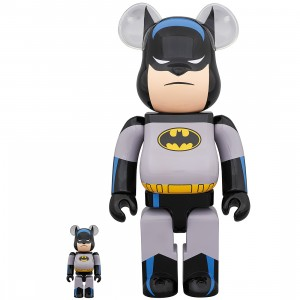 PREORDER - Medicom Batman Animated 100% 400% Bearbrick Figure Set (gray)