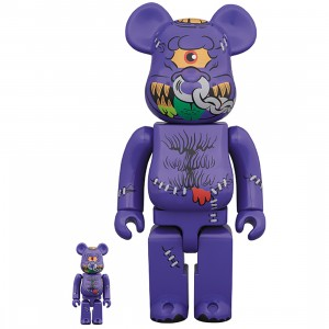 PREORDER - Medicom Madballs Horn Head 100% 400% Bearbrick Figure Set (purple)