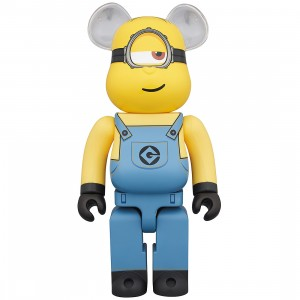 PREORDER - Medicom Despicable Me 3 Minion Stuart 1000% Bearbrick Figure (yellow)