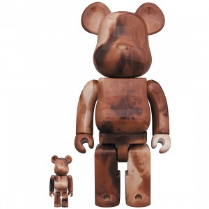 PREORDER - Medicom Pushead #4 100% 400% Bearbrick Figure Set (brown)
