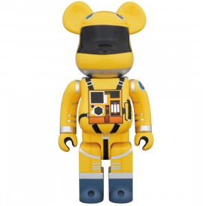 PREORDER - Medicom 2001 A Space Odyssey Space Suit Yellow Ver. 1000% Bearbrick Figure (yellow)