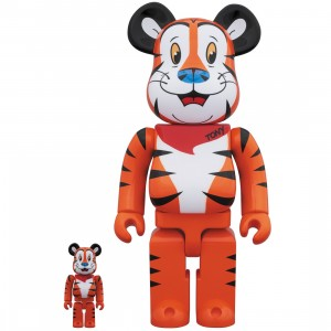 PREORDER - Medicom Kellogg's Tony The Tiger 100% 400% Bearbrick Figure Set (orange)