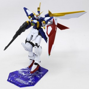 Bandai Gundam Universe GU-02 XXXG-01W Wing Gundam Figure With Special Stage Stand (navy)