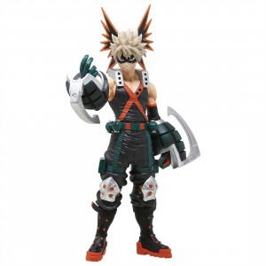Bandai Ichiban Kuji My Hero Academia Fighting Heroes feat. One's Justice Katsuki Bakugo Figure (black)