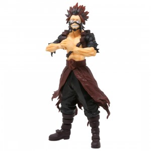 Bandai Ichiban Kuji My Hero Academia Fighting Heroes feat. One's Justice Eijiro Kirishima Figure (red)