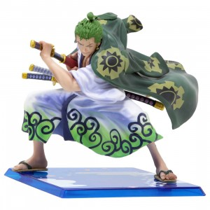 Bandai Figuarts Zero One Piece Roronoa Zoro Zorojuro Figure (green)