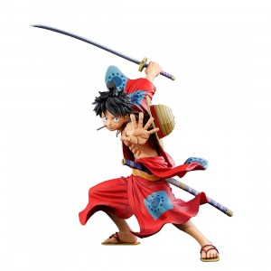 PREORDER - Banpresto One Piece Banpresto World Figure Colosseum 3 Super Master Stars Piece Manga Dimensions The Monkey D. Luffy Figure (red)