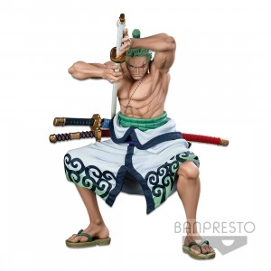 PREORDER - Banpresto One Piece Banpresto World Figure Colosseum 3 Super Master Stars Piece The Roronoa Zoro The Brush Figure (green)