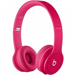 Beats By Dre Solo HD On-Ear Monochromatic Headphones (pink)