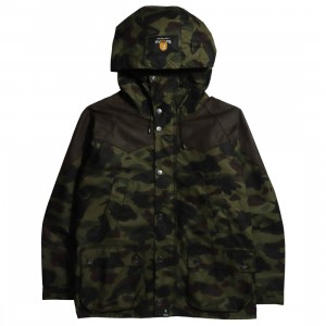 Barbour x Bape Men Snowboard Bedale Wax Jacket (camo / bape camo)