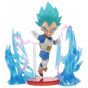 Banpresto Dragon Ball Super World Collectable Figure Plus Effect - 03 Super Saiyan God Super Saiyan Vegeta (blue)
