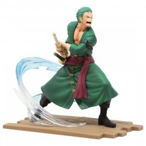 Banpresto One Piece Log File Selection Fight Vol. 1 Roronoa Zoro Figure (green)