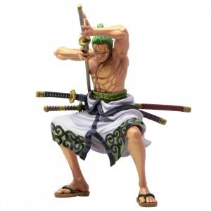 Banpresto One Piece Banpresto World Figure Colosseum 3 Super Master Stars Piece The Roronoa Zoro Two Dimensions Figure (green)