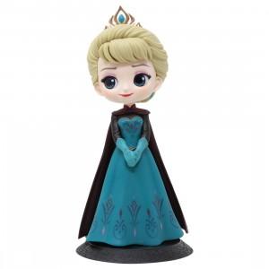 Banpresto Q Posket Disney Characters Elsa Coronation Style A Normal Color Ver Figure (teal)