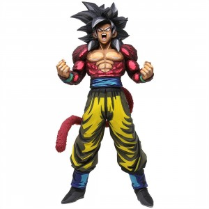Banpresto Dragon Ball GT Super Master Stars Piece Manga Dimensions Super Saiyan 4 Son Goku Figure (pink)