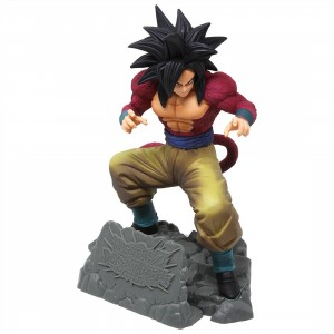 Banpresto Dragon Ball Z Dokkan Battle 4th Anniversary Figure - Super Saiyan 4 Son Goku (red)